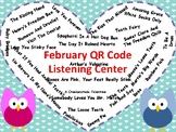 February Listening Center with QR codes (30 books)