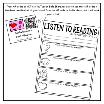 February Listening Center with QR codes