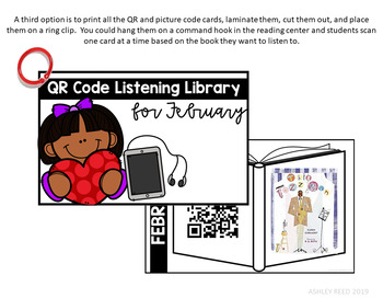 February Listening Library with QR Codes
