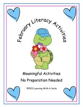 February Literacy Activities ~ Quick & Easy ~ No Prep Needed