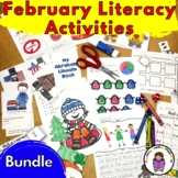 February Activities for Kindergarten Literacy Centers (Bundle)
