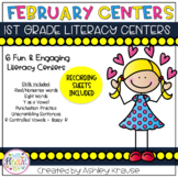 February Literacy Centers - 1st Grade