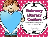 February Literacy Centers {Common Core Aligned for 2nd and