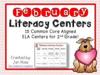 February  Literacy Centers Menu {Common Core Aligned} Grade 2