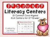 February  Literacy Centers Menu {Common Core Aligned} Grade 2
