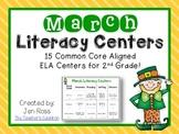 March Literacy Centers Menu {Common Core Aligned} Grade 2