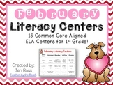 February  Literacy Centers Menu {Common Core Aligned} Grade 1