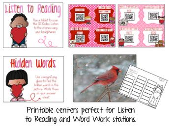 February Literacy Centers: Word Work & Listen to Reading for Daily Five