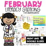 February Literacy Centers and Stations in Print and Digita