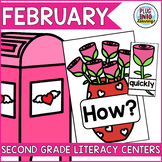 February Literacy Centers for Second Grade