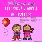 February Literacy & Math Activities