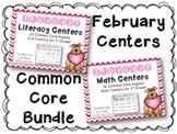 February Literacy & Math Centers Menu BUNDLE {CCS Aligned} Grade 1