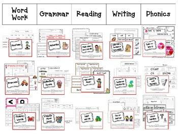 February Literacy & Math Centers Menu BUNDLE {Common Core Aligned} Grade 2