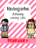 February Literacy Morning Work