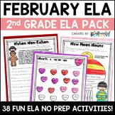 February ELA Pack: No Prep Printable Worksheets/Activities
