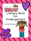 February Literacy Packet for Kindergarten!