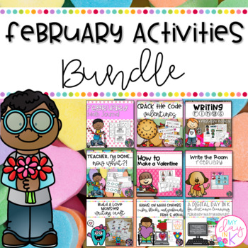 February Literacy and Math Activities Bundle
