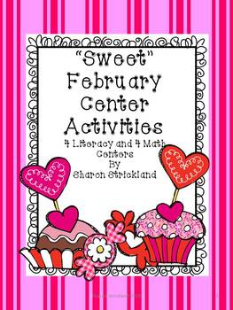 February Literacy and Math Centers-Second Grade-Common Core Aligned