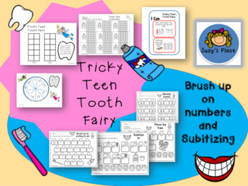 February Literacy and Math Centers/ Stations  Dental Theme