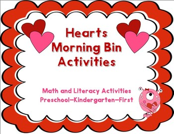 February Literacy and Math Morning Bins