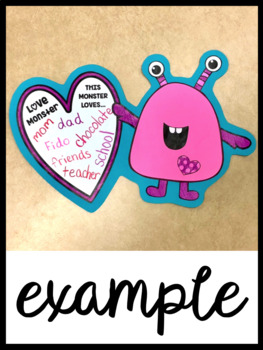 February Love Monster Craft and Writing Prompt Perfect for Valentine's Day