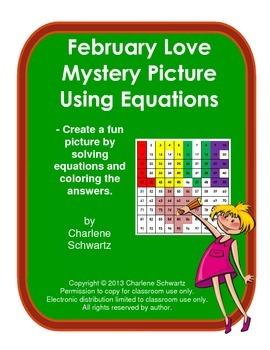 February Love Mystery Picture Using Equations