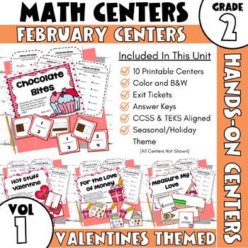 February Centers--2nd Grade MATH