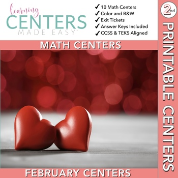 February Centers--2nd Grade MATH ONLY