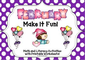 February Make It Fun Math and Literacy Activities!