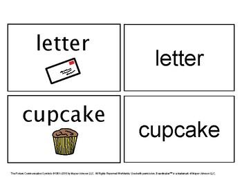 February/ March Functional Spelling Boardmaker Picture Cards for SPED