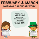 February & March Good Morning Calendar Work