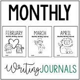 February, March, and April Writing Journals