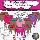 February Marshmallow Pops Clip Art