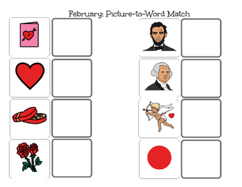 February Match-Picture and Word Match