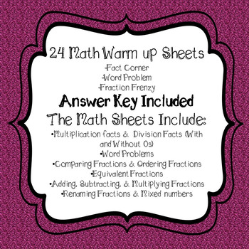 February Math *BUNDLE* Includes 24 Daily Math Worksheets & 56 Task Cards