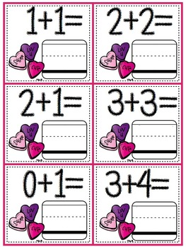 February Math Bins For Kindergarteners- Aligned To The Common Core!