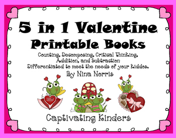 February Math Books - 5 in 1 product