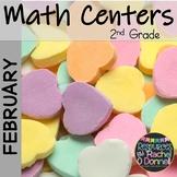 February Valentines Math Centers Second Grade