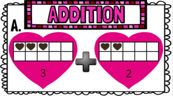 Digital February Math Centers for Kindergarten and First Grade