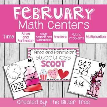 February 3rd Grade Math Centers