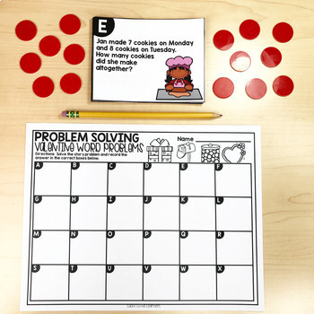 February Math Centers & Activities for 1st Grade
