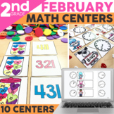 February Math Centers for 2nd Grade | Valentines Day Activities