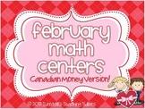 February Math Centers Canadian Money Version