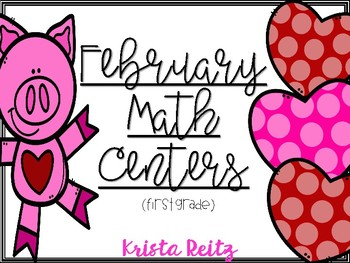 February Math Centers {Doubles, Coins, Expanded Form, Time}