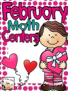 February Math Centers- Kindergarten