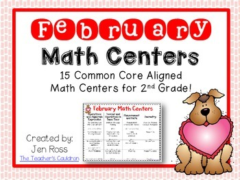 February Math Centers Menu {Common Core Aligned} Grade 2