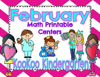 February Math Centers (Valentine's Day and Dental Health)