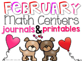 February Math Centers and Printables First Grade