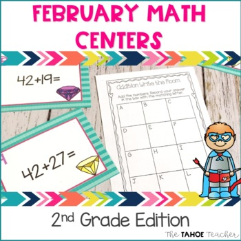 February Math Centers for 2nd Grade