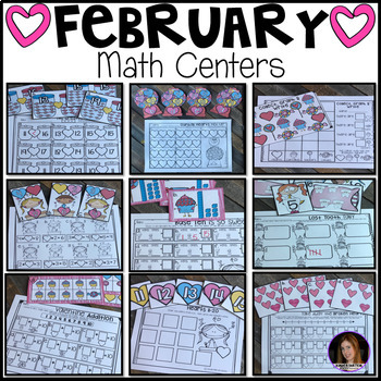 February Math Centers {CCSS}